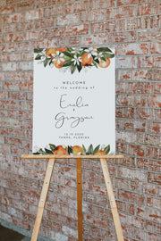 CALLIOPE | Watercolor Orange Blossom Printable Wedding Invitation Template Bundle