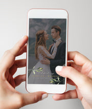 Isabella - Minimal Greenery Wedding Snapchat Filter Template