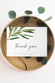 JUNIPER | Rosemary Greenery and Gold Printable Thank You Card Template