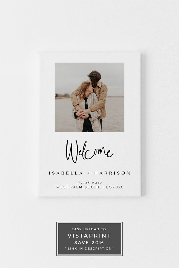 Willow - Modern Photo Wedding Invitation Template Bundle