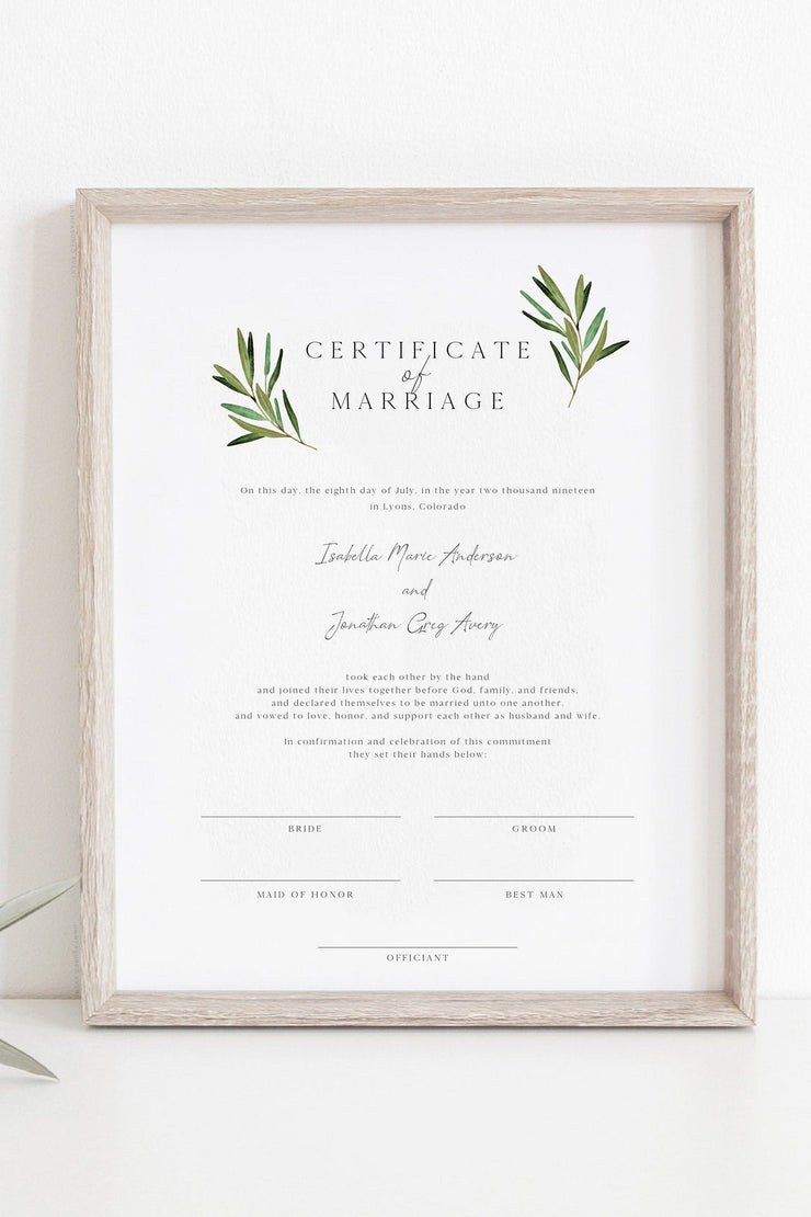 JUNIPER | Rosemary Greenery and Gold Wedding Invitation Template Bundle