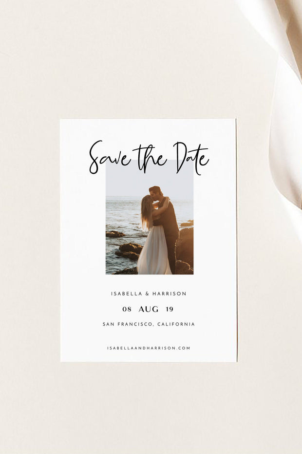 Willow - Contemporary Photo Save the Date Template