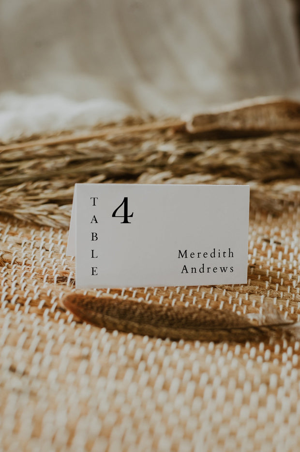 Harper - Minimalist Clean Wedding Place Card Template