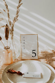 Harper - Minimalist Clean Wedding Table Number Template