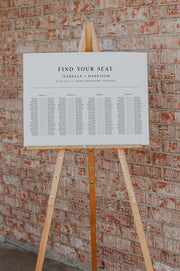 Harper - Minimalist Clean Wedding Banquet Seating Chart Template