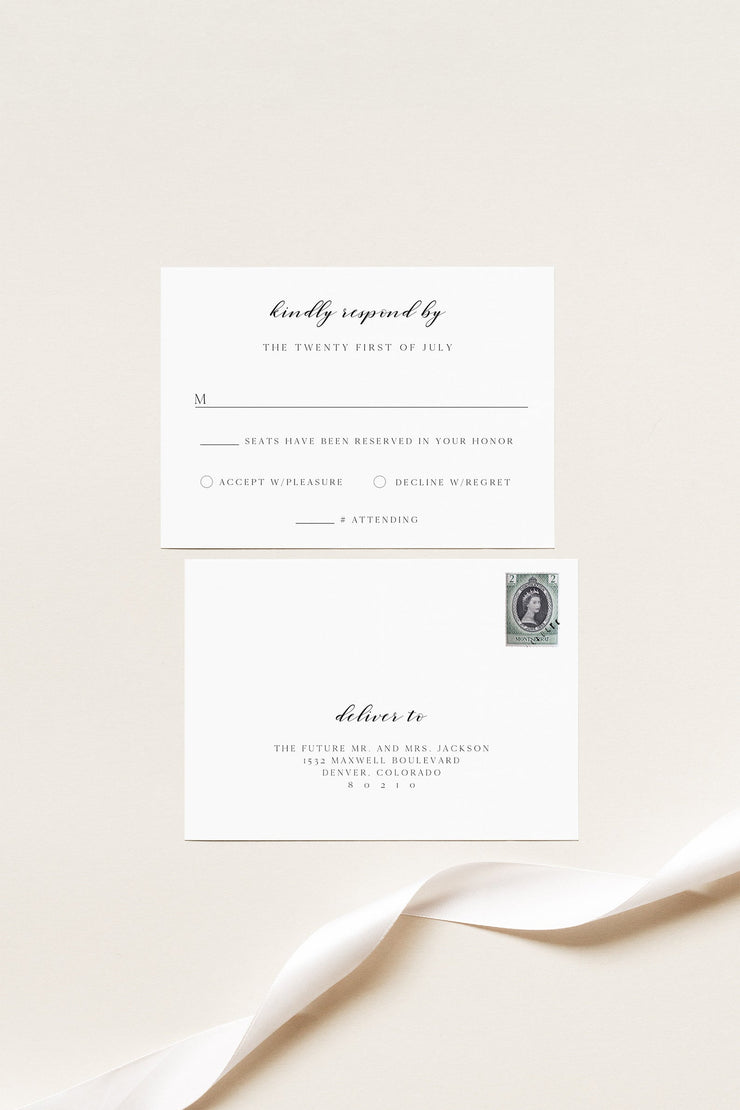 DEMI | Napa Sonoma Winery Wedding Invitation Printable Template Suite