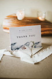 ALANA | Modern Beach Wedding Thank You Card Template