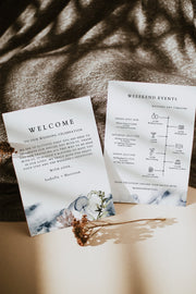 ALANA | Modern Beach Wedding Welcome Letter and Timeline Template