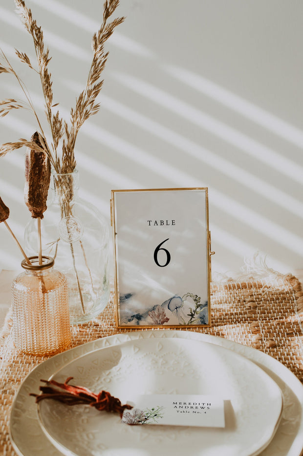ALANA | Modern Beach Wedding Table Number Template