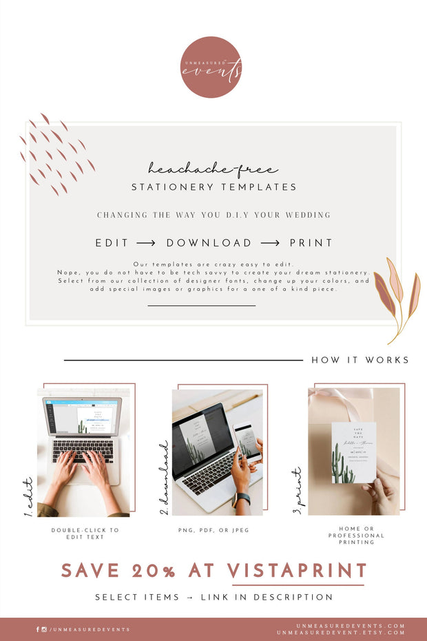 FIONA | Watercolor Charleston Printable Favor Tag Template