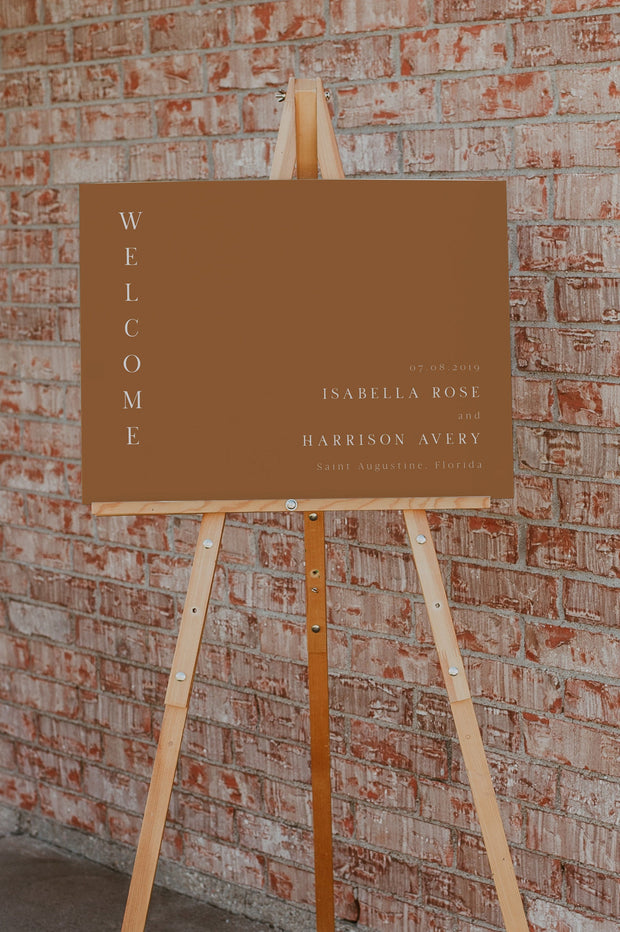 MIA | Modern Bohemian Burnt Orange Printable Wedding Template Bundle
