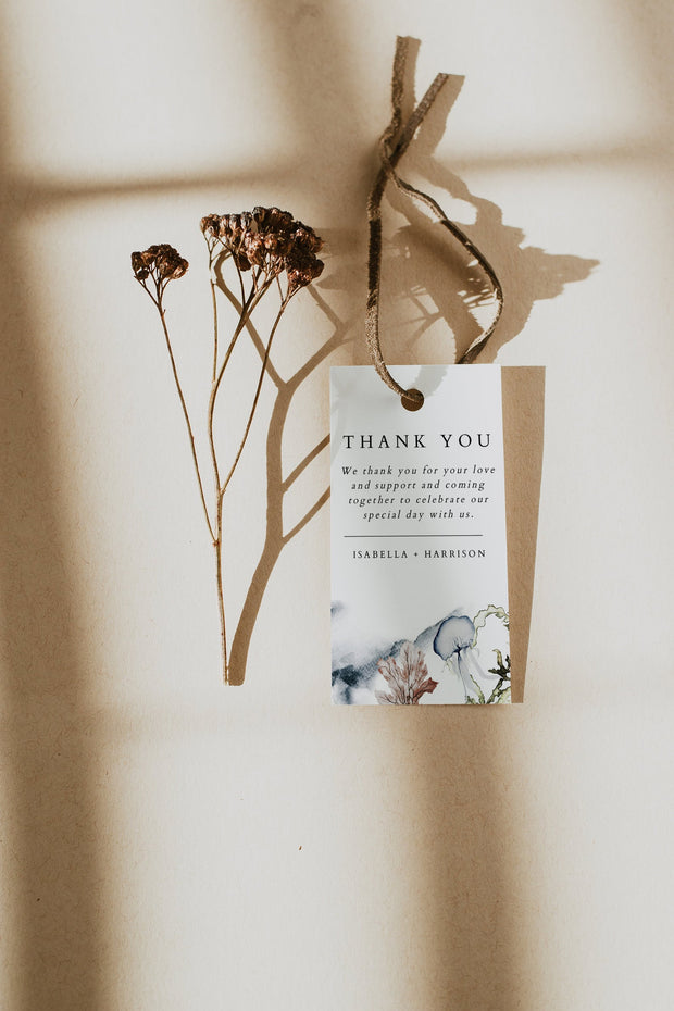 ALANA | Modern Beach Wedding Gift Tag Template