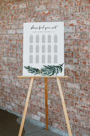 BEATA | Winter Pine Printable Wedding Seating Chart Template