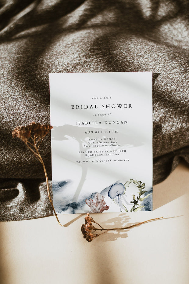 ALANA | Modern Beach Bridal Shower Invitation Template