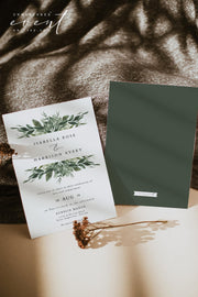 LANA | Modern Greenery Wedding Invitation Suite Templates