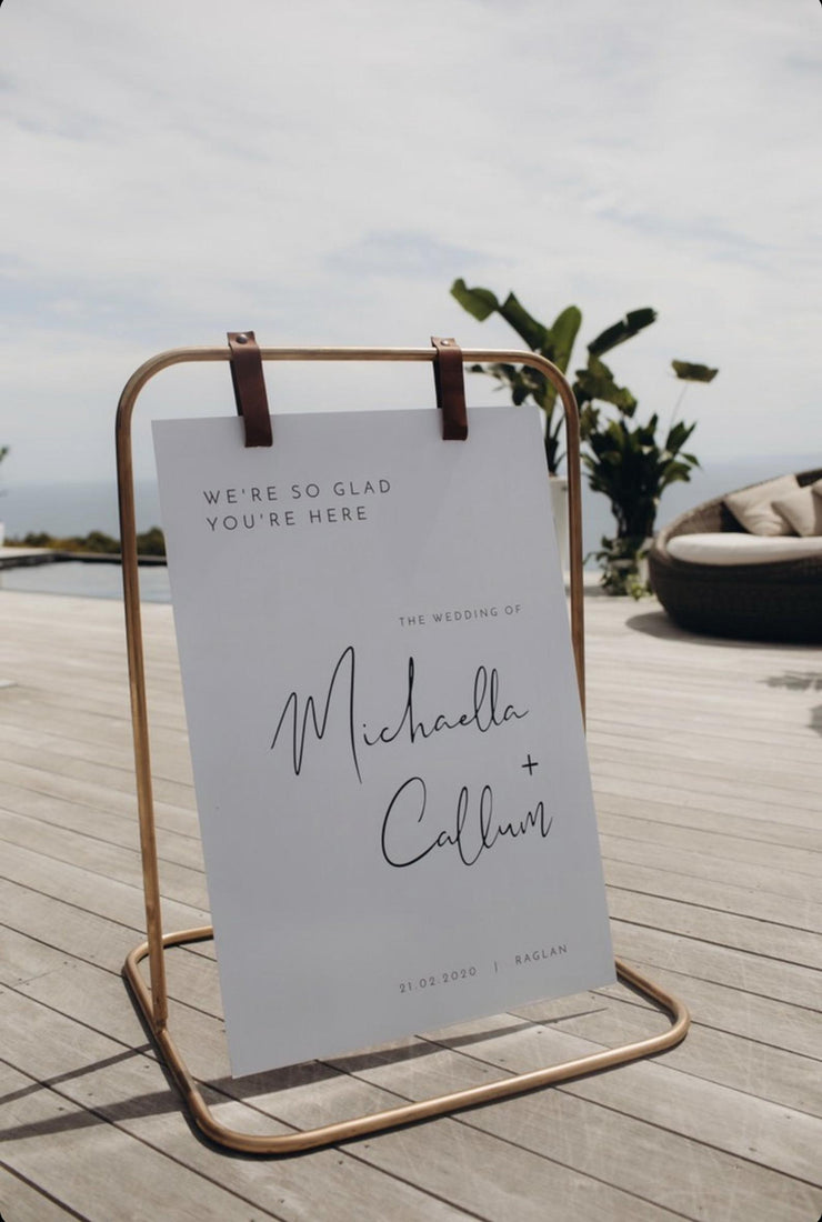 ADELLA Modern Minimalist Printable Wedding Welcome Sign Template