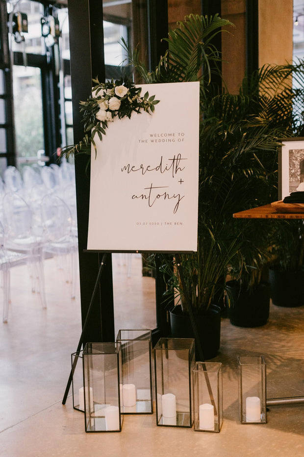 ADELLA | Modern Minimalist Wedding Welcome Sign Template