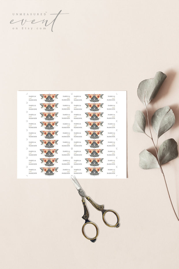 KINSLEY | Terracotta Tropical Bohemian Printable Straw Flag Template