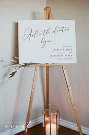 ASHER | Minimalist Calligraphy Wedding Welcome Sign Template