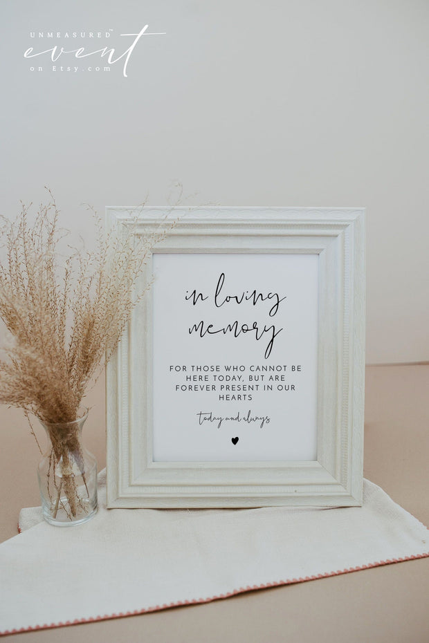 ADELLA | Modern Minimalist In Loving Memory Sign Printable Template