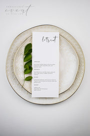 ADELLA Modern Minimalist Printable Wedding Menu Template