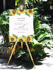 Emma - Rustic Sunflower Wedding Welcome Sign Template - Unmeasured Events