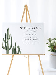 Eleanor - Bohemian Cactus Wedding Welcome Sign Template - Unmeasured Events