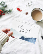 Zuri - Slate Blue Mountain Thank You Card Template