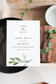 Isabella - Minimal Greenery Wedding Invitation Template Bundle - Unmeasured Events
