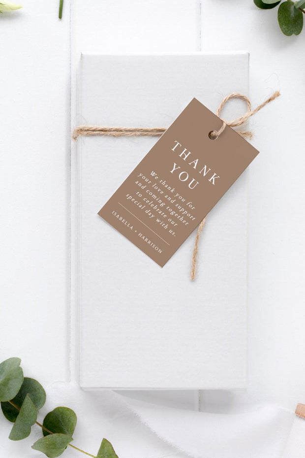 Mia - Earth Tone Gift Tag Template