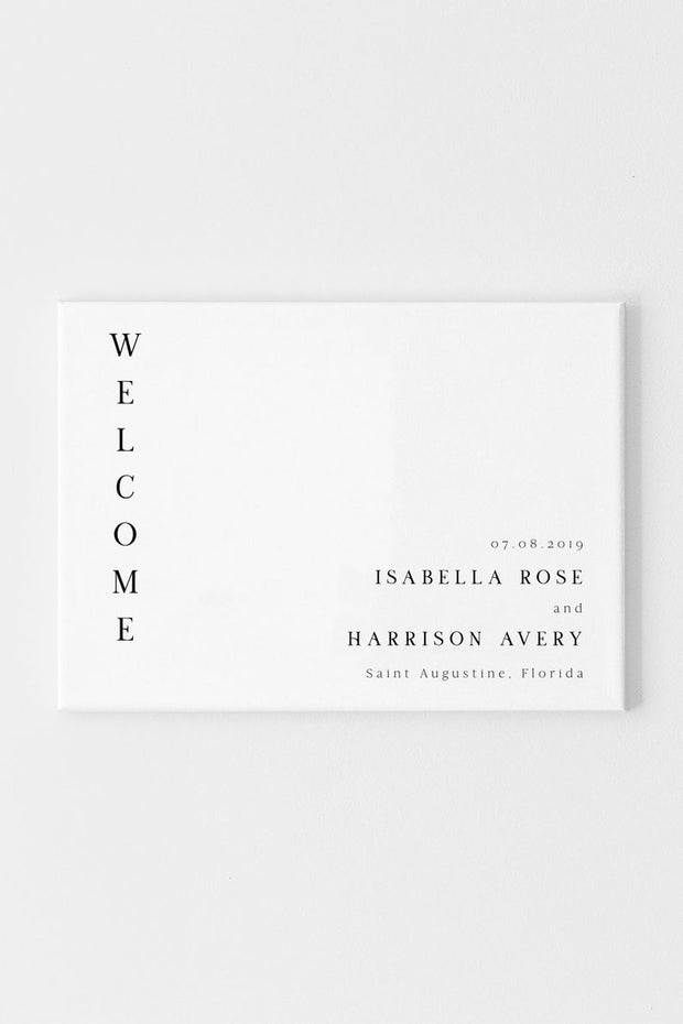 Harper - Minimalist Clean Wedding Welcome Sign Template