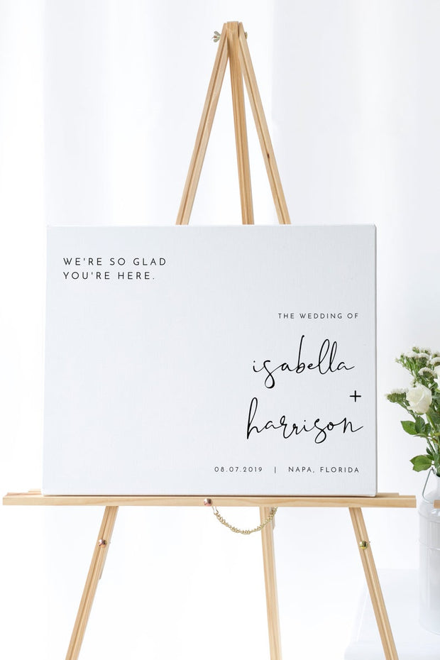 Adella - Modern Minimalist Landscape Wedding Welcome Sign Template