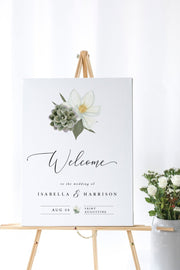 Cara - White Magnolia and Succulent Wedding  Large Template Bundle
