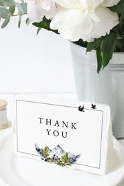 Sierra - Boho Mountain Wedding Thank You Card Template