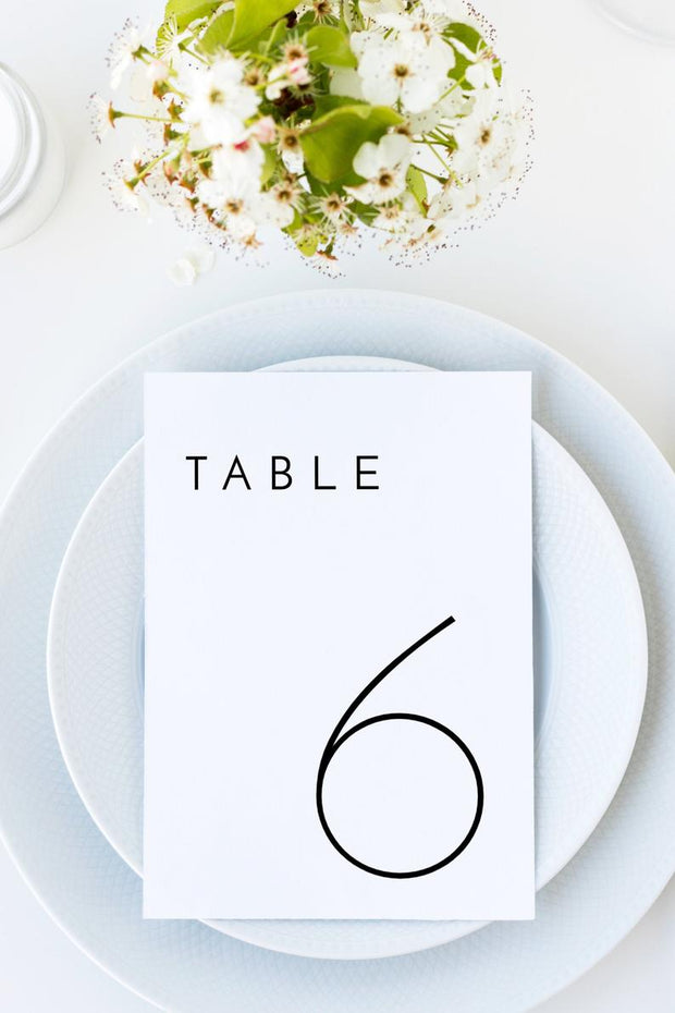 Adella - Modern Minimalist Wedding Table Number Template