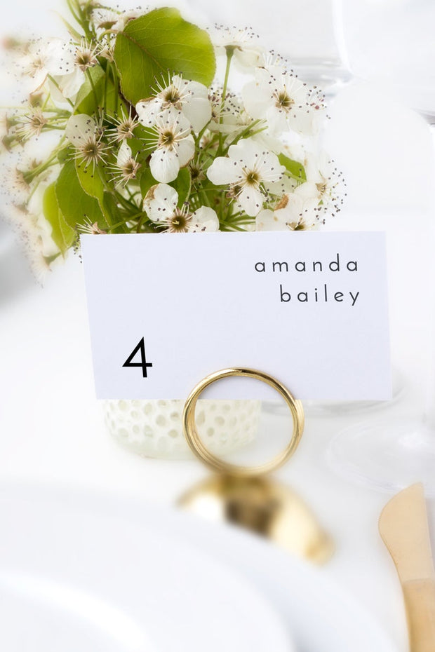 Adella - Modern Minimalist Wedding Place Cards Template