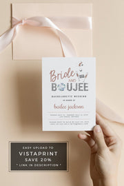 Genna - Rose Gold Bride and Boujee Bachelorette Invitation & Itinerary Template - Unmeasured Events