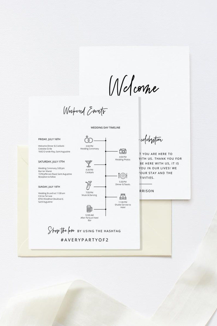 Marlo - Bold Contemporary Welcome Letter and Timeline Template - Unmeasured Events