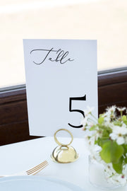 Evelyn - Elegant Minimal Wedding Table Number Template - Unmeasured Events