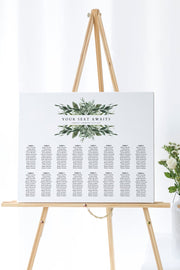 Lana - Modern Greenery Landscape Table Seating Chart Template