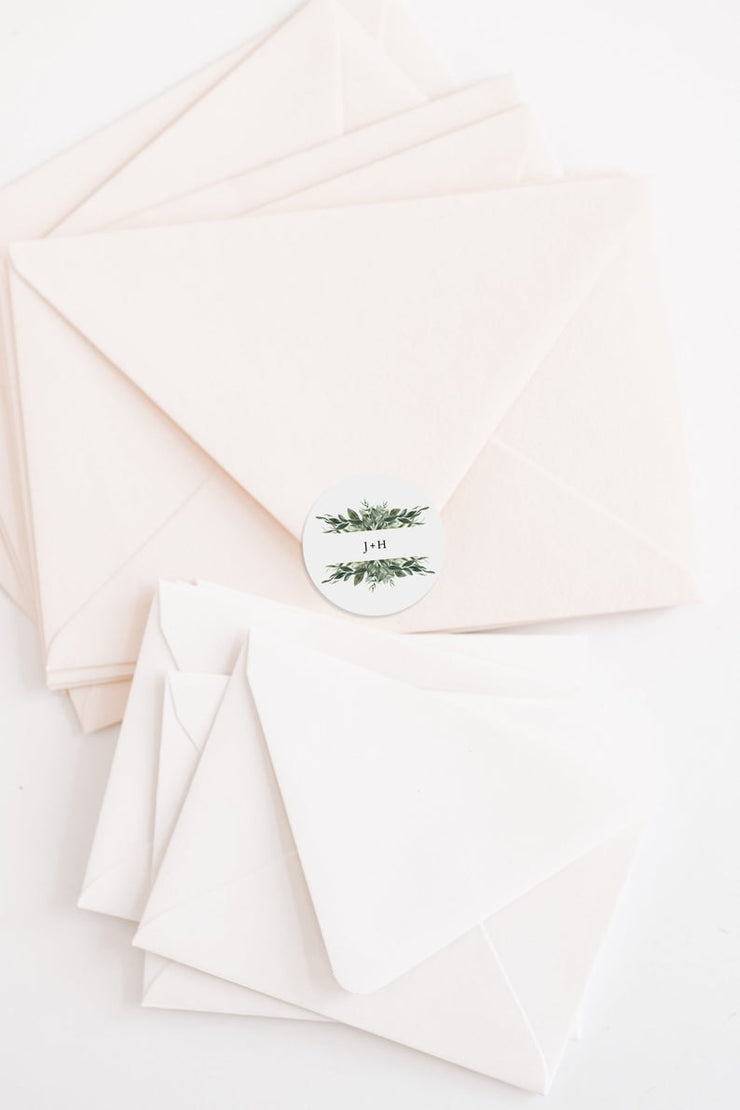Lana - Greenery Wedding Round Favor Tag Template - Unmeasured Events