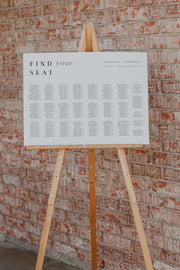 Harper - Minimalist Clean Wedding Alphabetical Seating Chart Template - Unmeasured Events