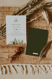 JENNA | Rustic Pine Tree Bridal Shower Invitation Template