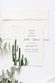Eleanor - Bohemian Cactus Wedding Save the Date Template