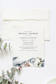 Alana - Modern Beach Bridal Shower Invitation Template