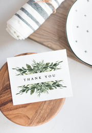 Lana - Modern Greenery Thank You Card Template - Unmeasured Events
