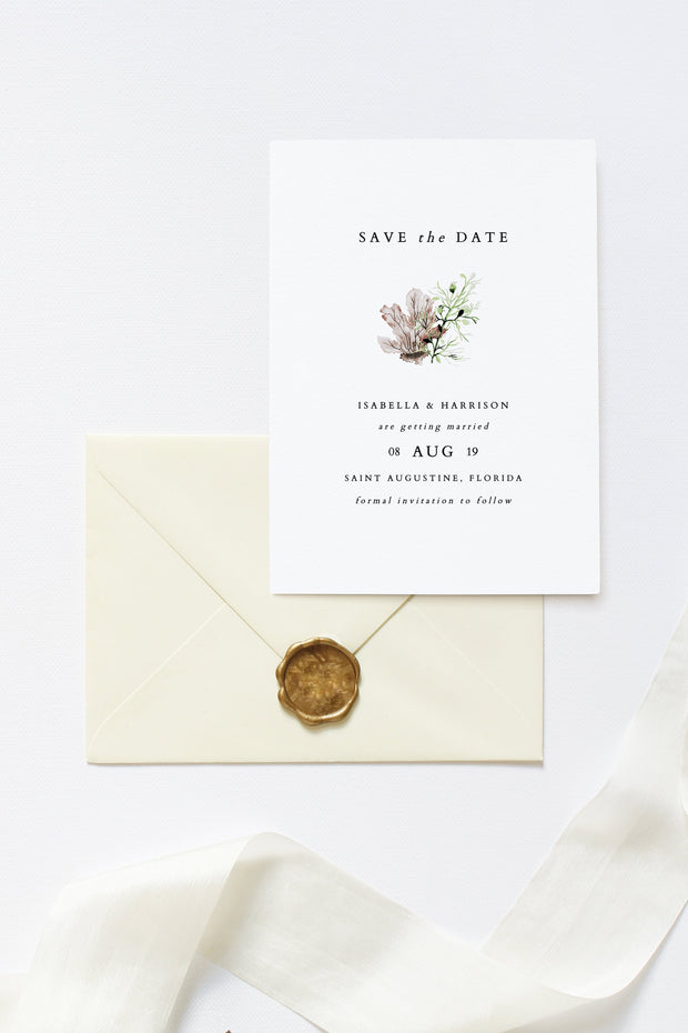 Alana - Modern Beach Wedding Save the Date Template