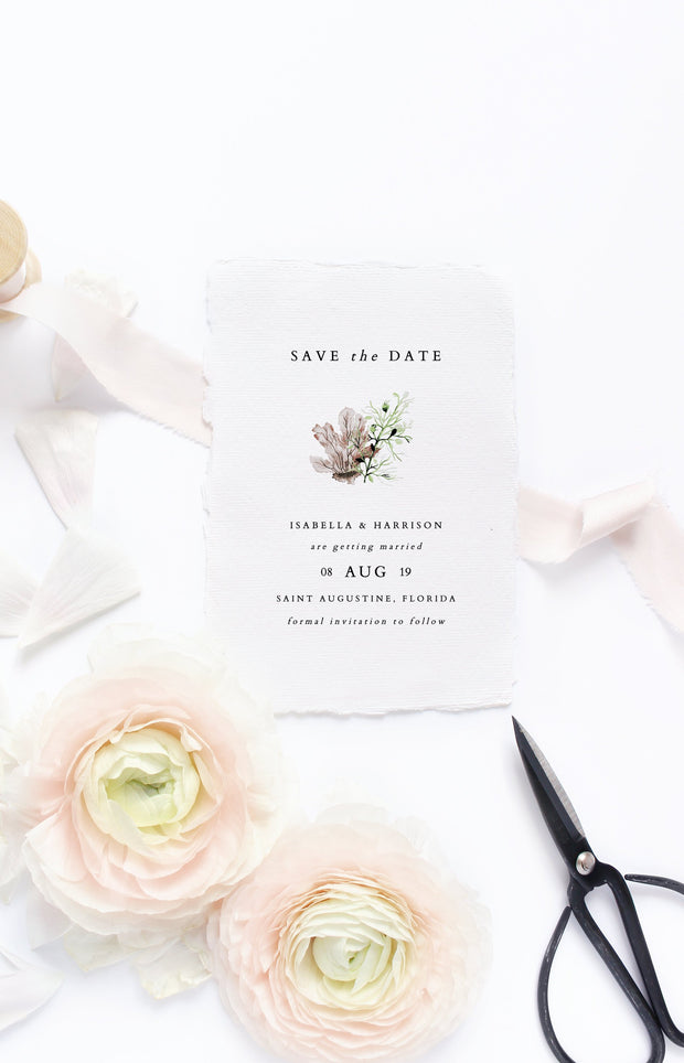Alana - Modern Beach Wedding Save the Date Template - Unmeasured Events