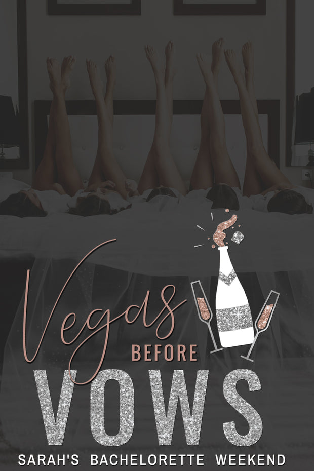 Genna - Rose Gold Vegas Before Vows Bachelorette Party Snapchat Filter Template - Unmeasured Events