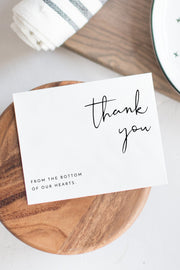 Adella - Modern Minimalist Wedding Thank You Card Template